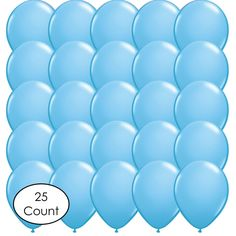 Light Blue Latex Balloons - 25 Count