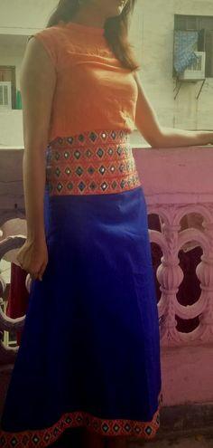 Crop Top With A-Line Skirt {Front} Waist Skirt, High Waisted Skirt, A Line Skirts, I Dress, Designer Dresses, Crop Tops, Collection, Fashion, Moda