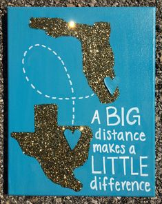 Items similar to Custom Long Distance State canvas / Big Little present on Etsy Big Little Canvas, Big Little Shirts, Big Little Week, Sorority Big Little, Big Little Reveal, Big Little Quotes, Big Little Paddles, Little Presents, Little Gifts