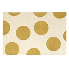 Giant Metallic Gold Dot Rug: 4'x6' $299, 5'x8' $399