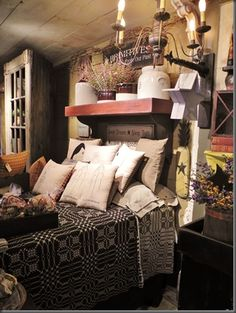 Primitive Farmhouse Bedroom ~ absolutely stunning!