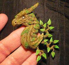 Darkwoods Dragon- handcrafted Pendant
