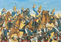 Battle of Zorndorf Russian Grenadiers, Prussian grenadiers and horse, by Adam Hook. Military Art, Military History, World History, World War, English Restoration, Frederick The Great, Seven Years' War, French Revolution, Napoleonic Wars