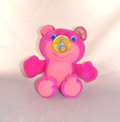 Vintage Playskool: Pink Mini Nosy Bear
