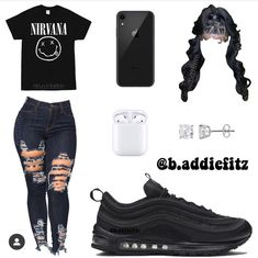Summer Swag Outfits, Swag Outfits For Girls, Boujee Outfits, Cute Lazy Outfits, Teenage Girl Outfits, Cute Casual Outfits, Dope Outfits, Freshman Outfits, School Outfits