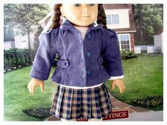 Corduroy Pin-wale Jacket for American Girl by BonJeanCreations