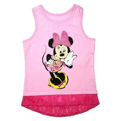 Disney� Minnie Mouse Toddler Girls' Lace Trim Tank - Dusty Pink