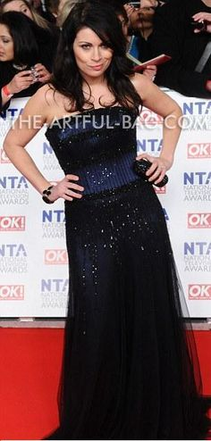 The Artful Bag   The gorgeous Alison King from Coronation Street at The National Television Awards 2012 with The Artful Bag's beautiful Twilight Clutch Bag Carla Connor, Alison King, Coronation Street, Clutch Bag, Twilight, Red Carpet, Awards, Tv Shows, Calm
