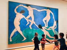 """These little kids at MoMa were trying to recreate this piece of art and it made my life."""