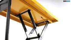 BiGDUG Single Scissor Lift Table Product Video Smart Furniture, Furniture Design, Custom Bbq Grills, Metal Scissors, House Lift, Lift Table, Lift Design, Workshop Storage, Woodworking Workshop