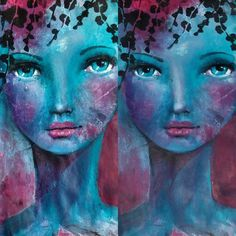 Yes.  Very interesting how tones change things! #mermaids #mixedmedialove