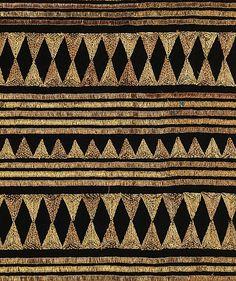 1927 French textile of silk & metal. Ethnic Patterns, Textile Patterns, Textile Prints, Textile Design, Fabric Design, Japanese Patterns, Floral Patterns, Lino Prints, Block Prints