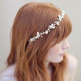 Enchanted floral and crystal hair vine - Style # 335 - Ready to Ship (2013, crystal hair vine, enamel flowers, hair adornments, hair vines, headpieces, ready to ship, twigs & honey, view all) | Headpieces | Twigs & Honey ®, LLC