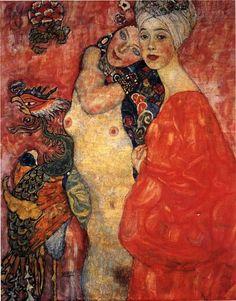 Painting by Gustav Klimt: Women Friends (1917)
