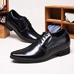 85232585f52f5 CHAMARIPA Chaussures Rehaussantes de Type Oxford Noir pour Homme - Hauteur  8 cm-H62D11K011D