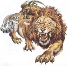 The most famous offspring from Typhon and Echidna, has the head and body of a lion, the head of a goat, and a snake as a poisonous tail. It could breathe fire through the lion and goat heads. The chimera was killed by Belleroph Greek Creatures, Magical Creatures, Fantasy Creatures, Chimera Mythology, Greek Mythology, Mythological Characters, Mythological Creatures, Dojo, Mythology Costumes