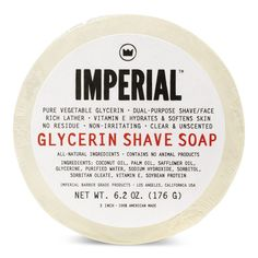 IMPERIAL BARBER GLYCERIN SHAVE SOAP PUCK