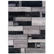 Archer Oblong Blocks Charcoal/Gray Area Rug