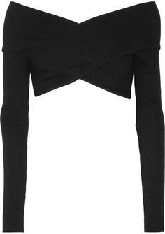 Opening Ceremony - Cropped Off-the-shoulder Ribbed Cotton-blend Top - Black #ad, fall fashion, for work, 2017, outfits, urban, for teen girls, 2016, boho, over 40, for moms, casual, plus size, trends, edgy, curvy, dresses, boots, over 50, preppy, grunge, for school, vintage, skirts, college, hipster, chic, classy, leggings, booties, sweaters, night out, modest, ideas, black, women's, cozy, vest, shoes, jeans, dressy, tumblr, plaid, indie, photoshoot, tights, for teachers, polyvore, bohemian…