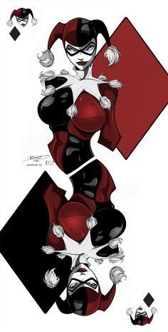 Joker And Harley Tattoo, Harley Tattoos, Harley Quinn Drawing, Joker And Harley Quinn, Dc Comics Art, Comics Girls, Harely Quinn, Gotham Girls, Joker Art