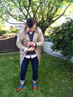 Thrifted trench | Travis of Emerald Closet
