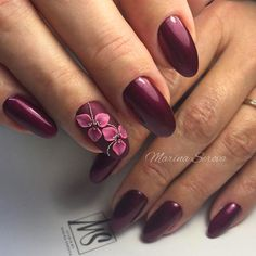 Floral Art Designs 40 Fantastic Burgundy Nails For Super Stylish Ladies 3d Nail Art, Floral Nail Art, Art 3d, Burgundy Nail Polish, Burgundy Nail Designs, Gel Polish, New Year's Nails, Red Nails, Modern Nails