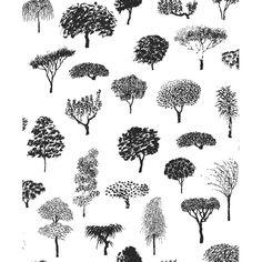 Volume 4 Linnapuisto Botanical Wallpaper by Fujiwo Ishimoto for Marimekko