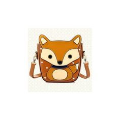 Faux-Leather Fox Pattern Cross Bag (225 HKD) found on Polyvore featuring bags, handbags, shoulder bags, accessories, faux leather purse, beige handbags, cross handbags, vegan leather handbags and cross strap purse
