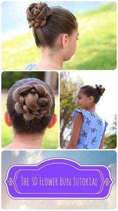 3D Flower Bun Hairstyle and more Hairstyles from CuteGirlsHairstyles.com
