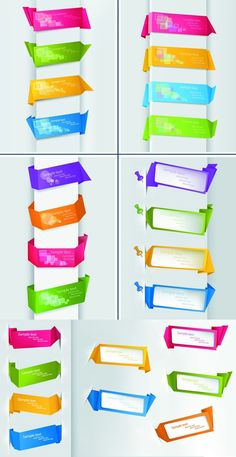 Origami Web site banner vector