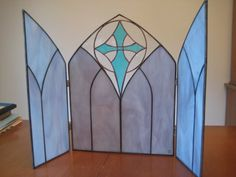 Stained Glass Nativity Scene - commissioned work...background for nativity