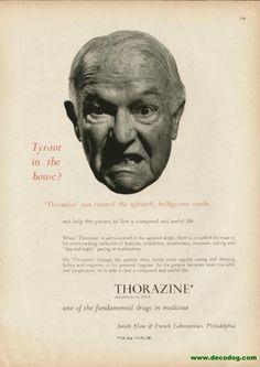 Thorazine was a wonder drug invented in 1950.
