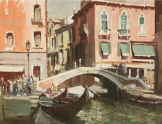 View A Canal in Venice by Edward Seago on artnet. Browse more artworks Edward Seago from Portland Gallery. Venice Painting, Boat Painting, Painting & Drawing, Watercolor Landscape, Landscape Paintings, Watercolor Paintings, Watercolours, Building Painting, English Artists