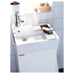 LILLÅNGEN Wash-basin cabinet with 1 door, white, cm. Suitable for a smaller bathroom, as the cabinet frame is just 40 cm wide. Wash Basin Cabinet, Vanity Cabinet, Hemnes, Bathroom Red, Small Bathroom, Ikea, Frame Shelf, Wash Stand, Upstairs Bathrooms