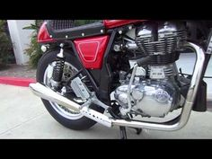 Royal Enfield Gt Continental Stainless Exhaust system from Carpys Cafe Racers - YouTube