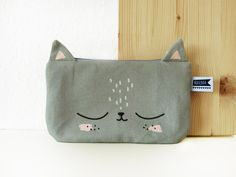 Diy Sac, Animal Bag, Diy Bags Purses, Pouch Pattern, Couture Sewing, Pencil Pouch, Kids Bags, Zipper Bags, Baby Sewing