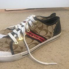 Coach sneakers. Practically new. Worn once Coach Shoes Sneakers