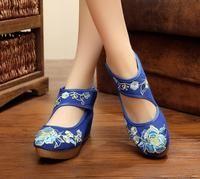 Women's Embroidered  Denim Shoe