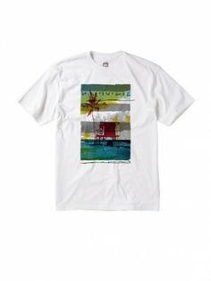 Camiseta Quiksilver Men's Waikiki Paddle Festival V Neck Tee Bright White #Camisetas #Quiksilver