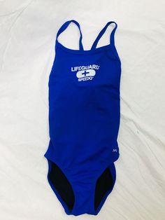 MAO Speedo Swimwear Lifeguard One-Piece Blue Summer Beach Girls Size 28 #SpeedoMAO #onepiece