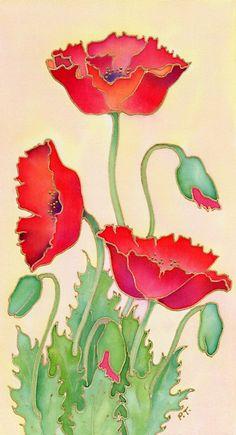 Pauline Townsend - Silk Painter POPPY www.SeedingAbundance.com http://www.marjanb.myShaklee.com
