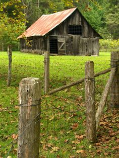 Barn on Parker Hickman Homestead, Newton County, Arkansas (1) From: Cormack Photos, please visit