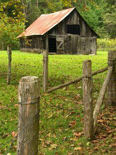 Barn on Parker Hickman Homestead, Newton County, Arkansas (1) From: Cormack Photos, please visit
