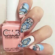 So here's the design I came up with using the three nail polishes from the @meeboxuk KAWAII T...