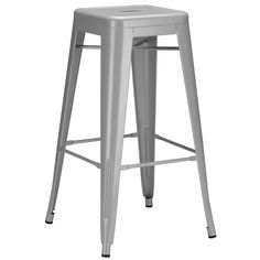 this bar stool matches the scheme and adds character to the kitchen.