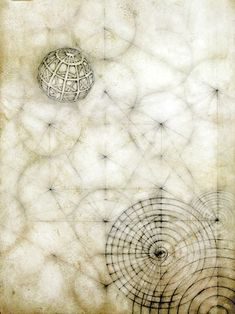 "Luisa Sartore     Tab.I  2009  oil and graphite on hand prepared paper  13' x 18"""