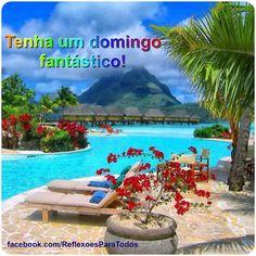 """Feliz Domingo. Bom Dia. Visite nosso blog """"Reflexões Para Todos"""" e encontre lindas mensagens (clique na imagem)."""