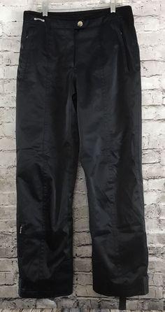 54c7967d939e Spyder Women's Black Shiny Snowboard Ski Insulated Thinsulate Pants XLT Sz  8 | eBay