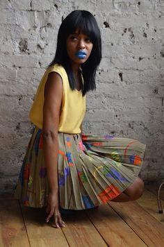 Girl Rocks Bright Blue Lipstick In Fashion Photoshoot Dark Colors, Lip Colors, Fashion Shoot, Editorial Fashion, Blue Lipstick, Lipstick Art, Bold Lips, Makeup Cosmetics, Tie Dye Skirt