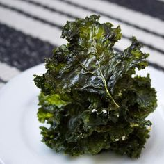 Kale chips from the toaster oven- super healthy & delicious snack.